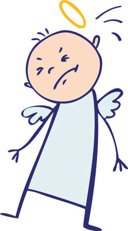 angry angel: Baby angel hit by his nimbus