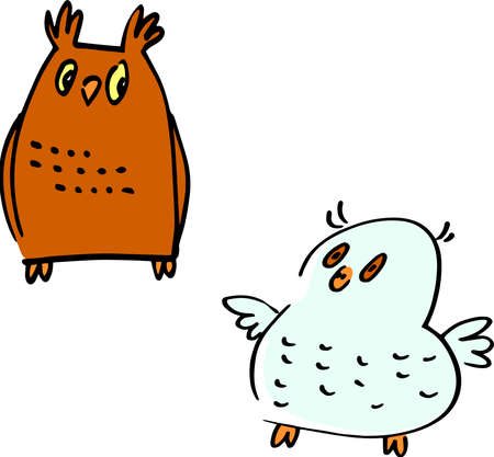 Curious, sophisticated and light-hearted owls with inherent and vibrant cuteness for all situations! Illustration