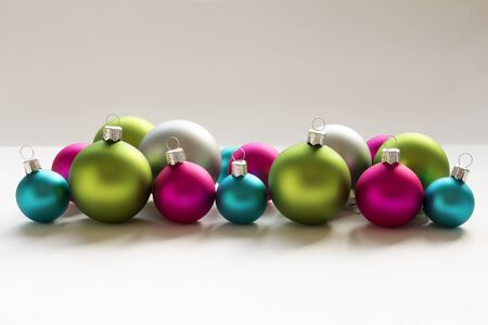 Blue, green, silver and pink Christmas Bulbs Christmas decoration