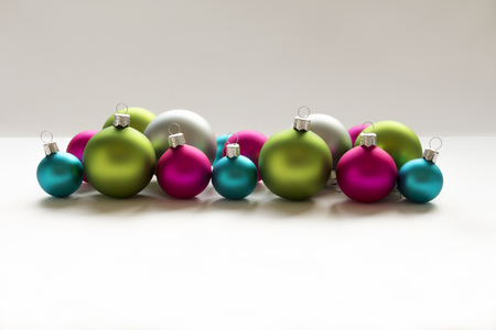 christmas bulbs: Blue, green, silver and pink Christmas Bulbs Christmas decoration