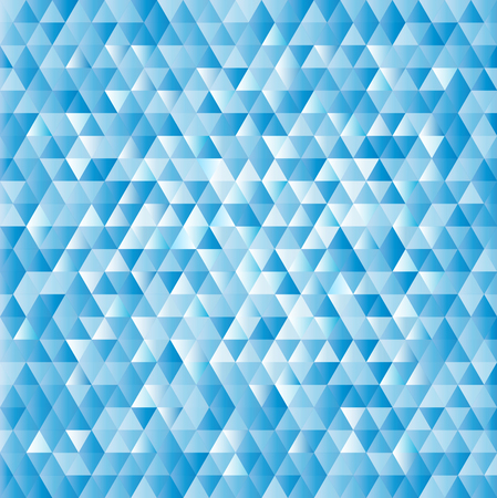 Abstract vector geometric background with blue triangles. Design illustration.