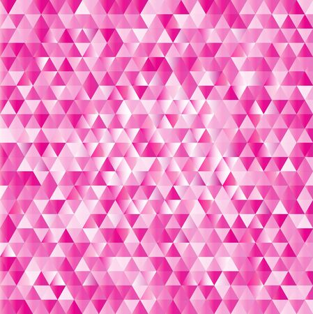 diamond shaped: Abstract vector geometric background with pink triangles. Design illustration.