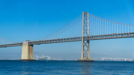 San Francisco, USA - August 2019: Bay Bridge during day on a clear sky