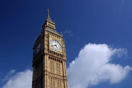 to chime: Big Ben - London, England