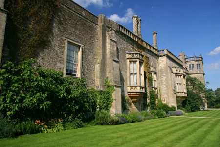 Lacock Abbey in the village of Lacock, Wiltshire, England.