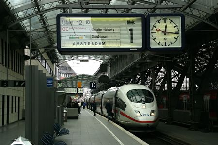 Train Station in Cologne, Germany.