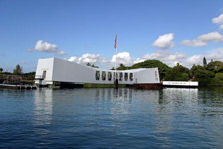 harbours: U.S.S. Arizona Memorial at Pearl Harbor in Honolulu, Hawaii. Editorial