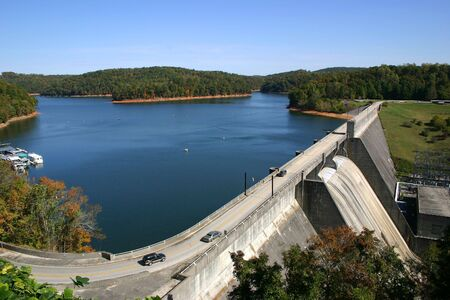 Norris Dam, a hydroelectric dam located in East Tennessee. photo