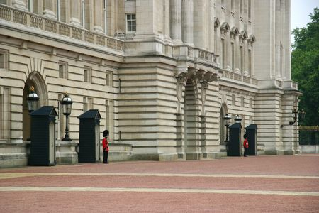 Queens Guard in front of Buckingham Palace photo