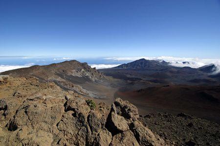 Summit of Haleakala Crater on the island of Maui in Hawaii. photo