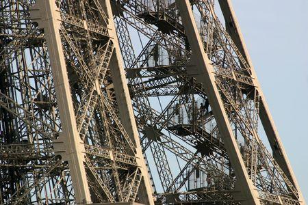 metallic stairs: Eiffel Tower Close Up - Paris, France