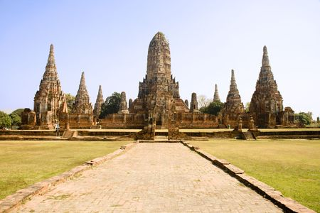 Wat Chai Wattanaram in Ayutthaya near Bangkok, Thailand. photo