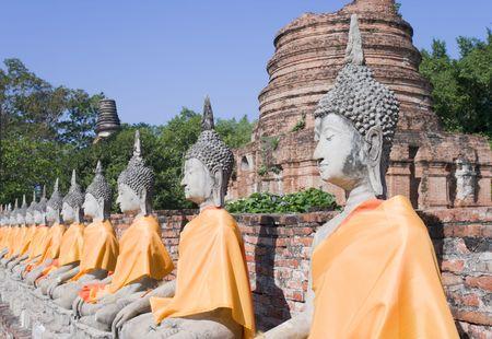 The temple of Wat Yai Chai Mongkol in Ayutthaya near Bangkok, Thailand.