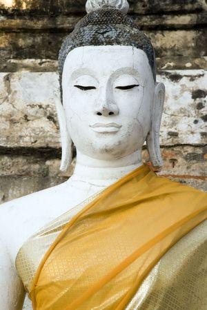Buddha at the temple of Wat Yai Chai Mongkol in Ayutthaya near Bangkok, Thailand.