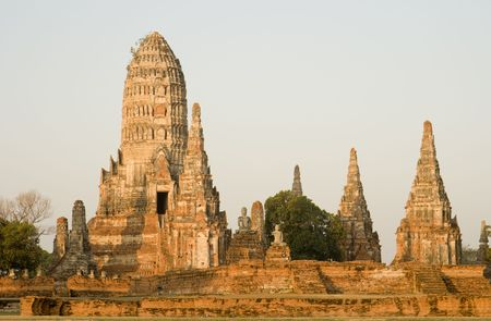 Wat Chai Wattanaram along the Chao Phraya River in Ayutthaya near Bangkok, Thailand.