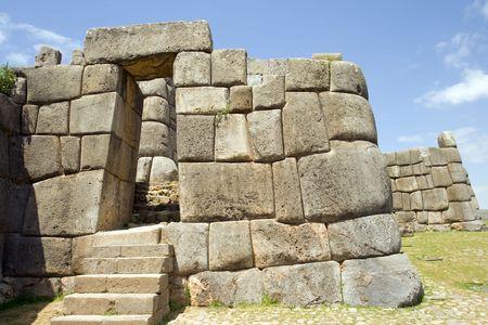 incan: Inca rovine di Sacsayhuaman in Cusco, Peru. Archivio Fotografico
