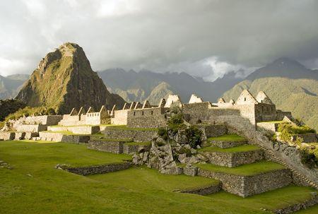Machu Picchu at sunset. (Peru)
