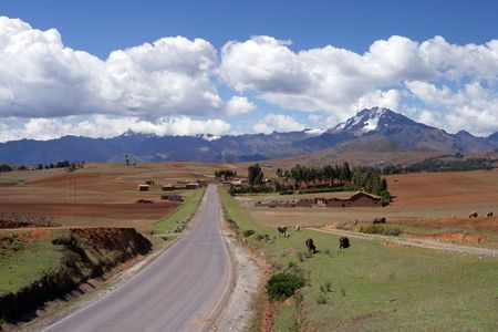 south american: View of the Peruvian countryside not far from the city of Cusco.
