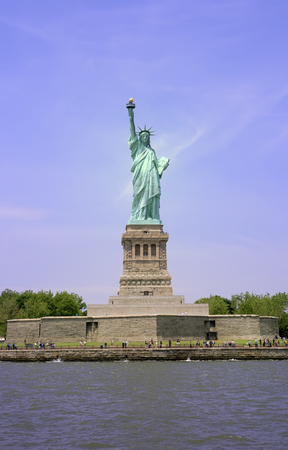 Liberty Island and the Statue of Liberty in New York City. Stock Photo - 1446902