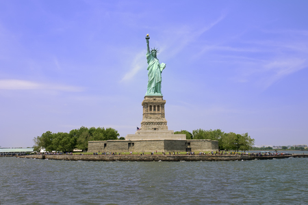 liberty island: Liberty Island and the Statue of Liberty in New York City. Stock Photo