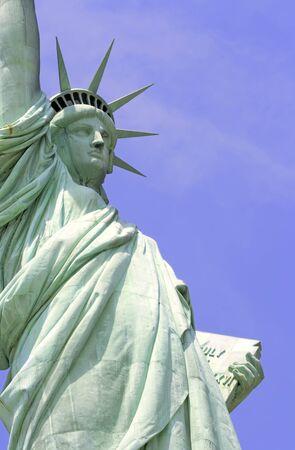 liberty island: Statua della Libert� su Liberty Island, a New York City.  Archivio Fotografico