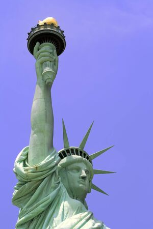 liberty island: Statue of Liberty on Liberty Island in New York City.