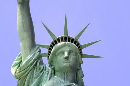 liberty island: Primo piano di Statua della Libert� su Liberty Island a New York City.