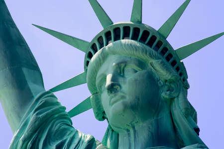 liberty island: Primo piano della Statua della Libert� su Liberty Island a New York City. Archivio Fotografico