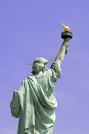 liberty island: Statue of Liberty in Liberty Island in New York City. Stock Photo