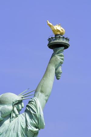リバティ島ニューヨーク市で自由の女神。 写真素材