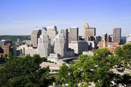 オハイオ州シンシナティのダウンタウンの眺めです。 写真素材