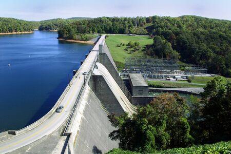 Norris のダム、イースト テネシー州に位置する水力発電ダム。