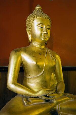 buddha image: Seated Buddha in Buddhist temple in Ayutthaya near Bangkok, Thailand.