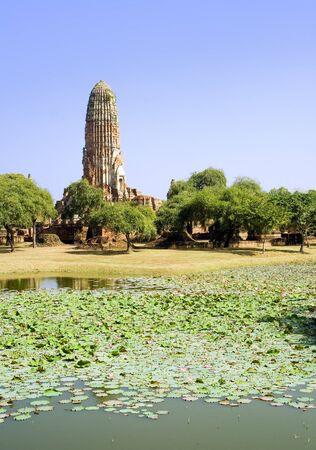 far eastern: Ruins of a Buddhist temple in Ayutthaya near Bangkok, Thailand. Stock Photo