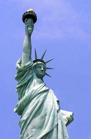 liberty island: Statua della Libert� su Liberty Island a New York City.