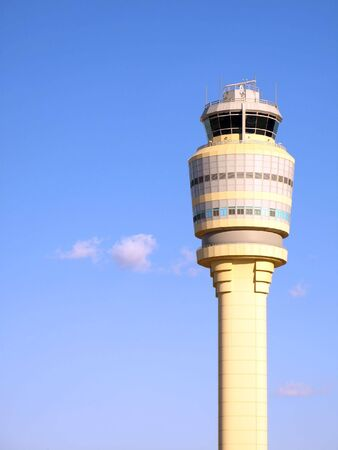 control tower: Air Traffic Control Tower at Atlanta Hartsfield-Jackson Airport.