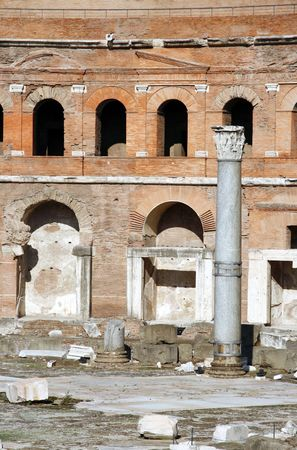 Trajans Forum in the Imperial Forum in Rome, Italy. c 112 AD.