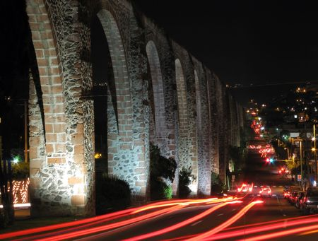 The Los Arcos (aqueduct) in Queretaro, Mexico,  Constructed between 1726 and 1735.