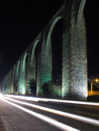 メキシコ ・ ケレタロ州でロス アルコス (水道橋)。 1726 および 1735年間に建設. 写真素材