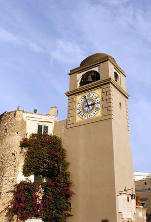 clocktower: Clocktower on the Italian island of Capri.