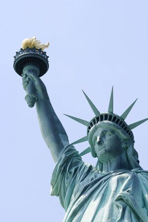 liberty island: Close up of the Statue of Liberty on Liberty Island in New York City.