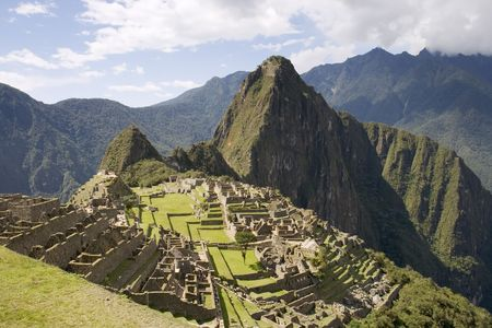the lost city of the incas: The Lost Incan City of Machu Picchu near Cusco, Peru.