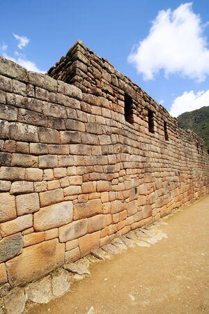 incan: The Artisans Wall at the Lost Incan City of Machu Picchu near Cusco, Peru.