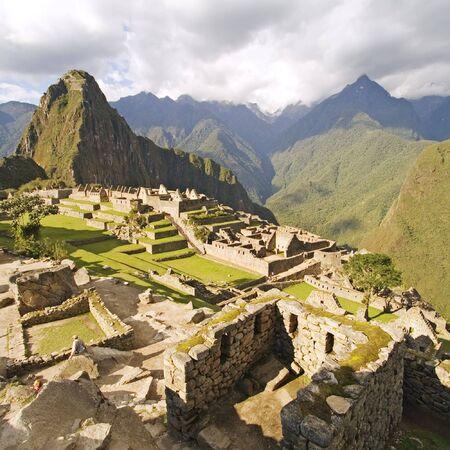 the lost city of the incas: The Lost City of Machu Picchu near Cusco, Peru.