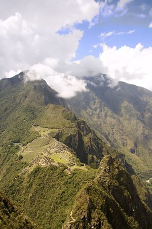 View of Machu Picchu from Wayna Picchu near Cusco, Peru. Stock Photo - 4234426