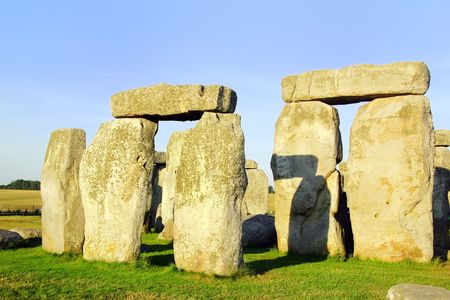stonehenge: Close up of rock formations of Stonehenge in England.