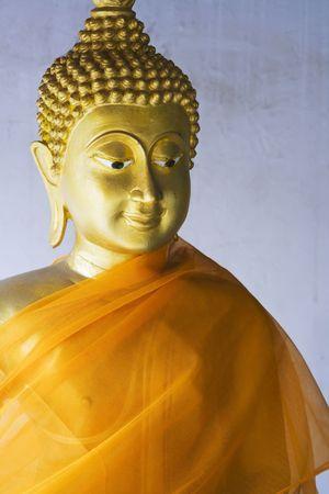 Thai Buddha statue at Wat Phanan Choeng in Ayutthaya near Bangkok, Thailand.