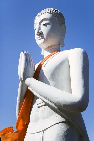 buddha image: Praying Buddha statue at the temple of Wat Yai Chai Mongkol in Ayutthaya near Bangkok, Thailand.
