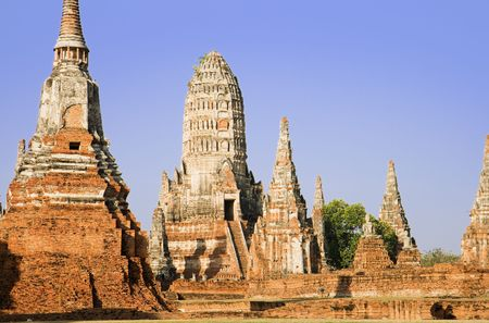Ruins of the Buddhist Temple Wat Chai Wattanaram in Ayutthaya near Bangkok, Thailand. photo