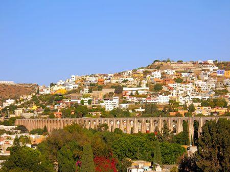 メキシコ ・ ケレタロ州に Los Arcos (水道橋)。 1726 および 1735年に建設されました。 写真素材